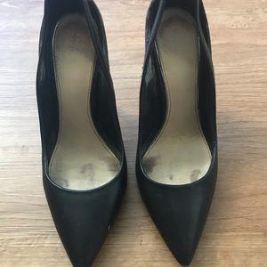 Zara black snake print heels